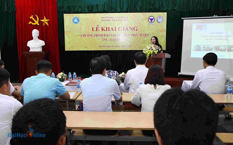 Buoi Le Khai Giang Chuong Trinh Dao Tao Cu Nhan Truc Tuyen Dai Hoc Thai Nguyen O Ha Noi 2