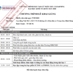 Thông báo: Lịch khai giảng Chương trình Cử nhân trực tuyến tại Hồ Chí Minh ngày 27/09/2020