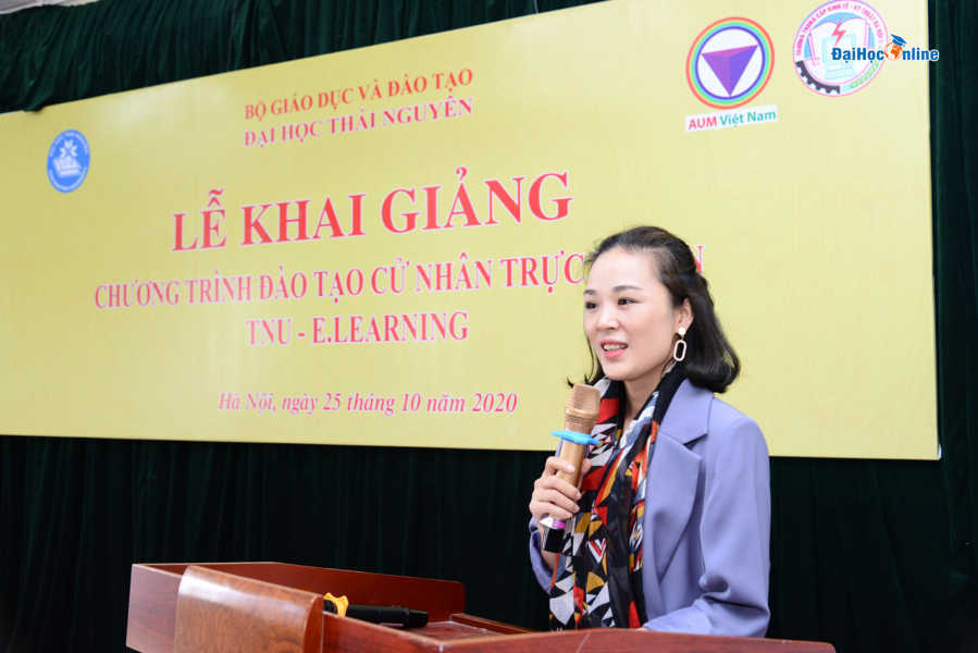 Lễ khai giảng chương trình đào tạo trực tuyến Đại học Thái Nguyên 25/10/2020